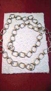 Collana argento e bronzo brunella