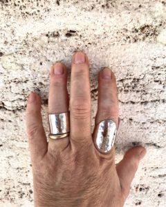 Fasce martellate argento