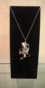 Fili argento con perla scaramazza lilla