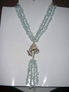 acquamarine con conchiglia argento