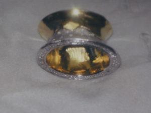 Anello in argento in parte dorato con zirconi €. 152,00