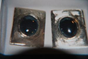 Orecchini in argento con onice €. 73,00